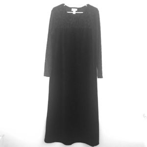 Diane Von Furstenburg Black Long Sleeve Dress